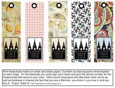 I'm a Mormon printable bookmarks