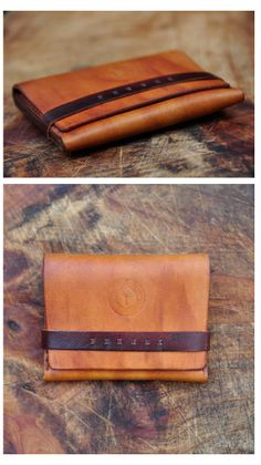 """Fennek Handmade Leather goods. Their philosophy """"We try to live a life that will rid us from unnecessary clutter. There is no need to carry around all of those coins, cards and receipts. Give your coins to the poor and hold on to your necessities. It is designed to carry only your essentials so that your wallet won't bulge in your trouser pockets. Keep what is of value and leave unimportant things behind you. Thus our wallet represents the idea of a simpler life"""""""