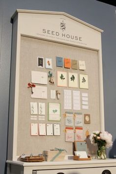 the Seed House display in the Ladies of Letterpress booth at NSS 2012 | via ohsobeautiful paper