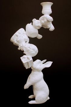 Rabbit in Wonderland candle holder by Artecnica #whimsical #white