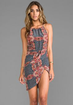 FRIEND OF MINE Canine Halter Dress in Antique Paisley at Revolve Clothing