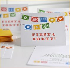 Cute Invites. REAL PARTIES: Fiesta 40 Birthday Party
