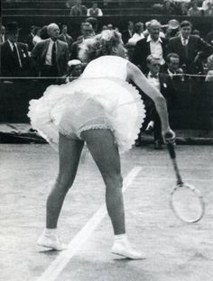 When it comes to womens' tennis, hemlines - not baselines - have obsessed Wimbledon watchers. Check out this Vintage tennis upskirt #WImbledonWorthy