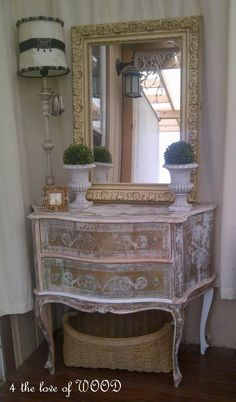 4 the love of wood: STRIPPING - gold marble cabinet