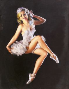 zoë mozert, zoe mozert, pin up art, vintag pinup, pinup girl, pinup art, ballerina, vintage pins, pin up girls