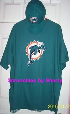 Miami Dolphins Football Fan Pack Reebok Hat & Shirt NFL Great Gift