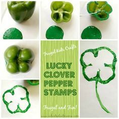 Lucky Clover Pepper Stamps, Frugal & Fun Craft for the Kids
