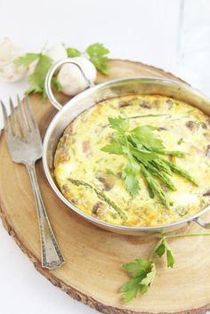 Ham, Mushroom & Asparagus Frittata