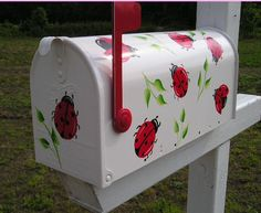 Lady bug mailbox