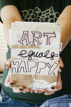 art equals happy