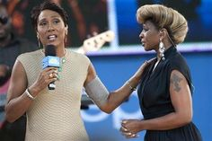 PICC Cover Fashions  on GMA - Singer Mary J. Blige speaks with ABC's Good Morning America host Robin Roberts before performing in New York's Central Park. Shown wearing PICC Cover Fashions TM arm band sleeve by CastCoverFashions. June 22, 2012