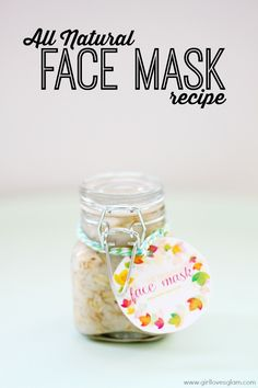 Homemade All Natural Face Mask Recipe on www.girllovesglam.com