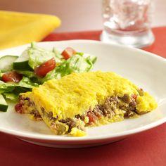 Pastel de Choclo (Corn and Meat Pie)... Una versión más sencilla de la tradicional receta sudamericana: puré de maíz y carne sazonada en capas