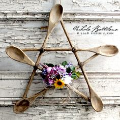 Rustic Spoon Star a Kitchen Witch Pentagram with Tutorial Nichola Battilana pi