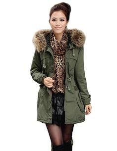 iLoveSIA Womens Military Coat Parka Hooded Warm Thicken Trim Faux Fur for only $24.85 You save: $145.13 (85%)
