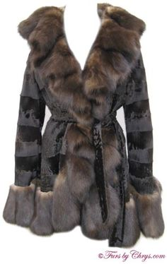 SOLD! Dennis Basso Ruffled Russian Sable and Broadtail Lamb Stroller Coat RSL640; Approx. size range: 2 - 6 Average or Tall. Never worn; Saks tag attached. Designed by the world-renowned Dennis Basso, and has all the flair and spunk you would expect from him. It features Russian sable ruffled tuxedo trim, extra-long flaring Russian sable sleeve ends, as well as ruffled Russian sable trim at the bottom hem. The broadtail lamb fur is sewn in wide strips...