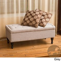 Christopher Knight Home Chantelle Fabric Storage Ottoman | Overstock.com Shopping - Great Deals on Christopher Knight Home Ottomans