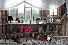 summer kitchen.