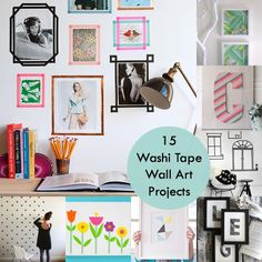 Are you a fan of washi tape and wall art? The two come together in these 15 inspirational washi tape wall art project ideas! tape wall, craft, washi tape