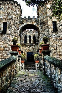 Castle drawbridge