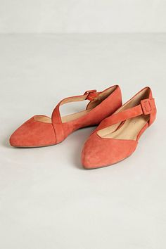 shoes, fashion, orang, flat anthropologi, style, anthropologiecom, flats, luca sued, sued flat