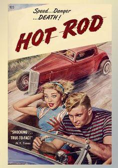 Vintage hot rod poster