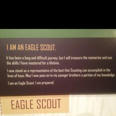 I'm an Eagle Scout