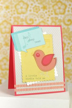 A Little Birdie Card by Erin Lincoln for Papertrey Ink (March 2014)