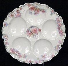 Lovely Haviland Limoges Oyster Plate, Pastel Colors (item #443017)