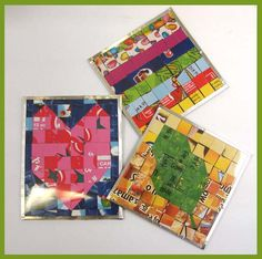 Cereal Box Mosaic Coaster
