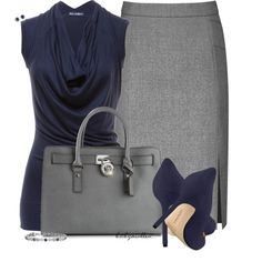 Blue & Gray, created by bitbyacullen on Polyvore
