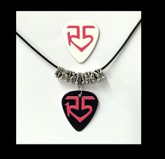 R5 BAND  - Ross Lynch - Guitar Pick Black Leather Necklace + Bonus Guitar Pick