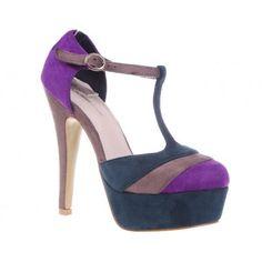 Pantofi cu platforma mov Morgan