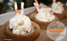 Tres Leche Pumpkin Cupcakes {recipe}   For a HEAVENLY fall treat, you HAVE to TRY these!  They are AMAZING.    #ad #IDelight #PumpkinDelight #pumpkin #cupcake