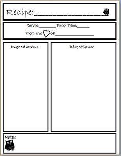 recipe template