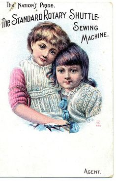 Victorian Trade Card for The Standard Rotary Shuttle Sewing Machine