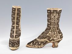 Evening boots, 1885-90 France (probably), the Met Museum.