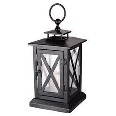 �15.75-in H Black Metal Outdoor Decorative Lantern - $9.99 at Lowes