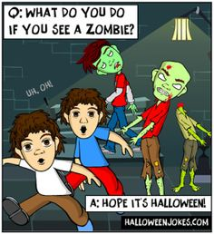 Halloween Zombie Joke For Kids