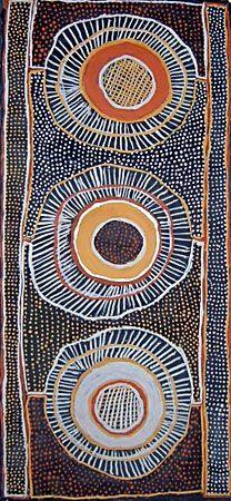 Jean Baptiste Apuatimi / Jirtaka sawfish ochres on canvas   115 x 53 cm