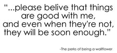 the perks of being a wallflower - quote