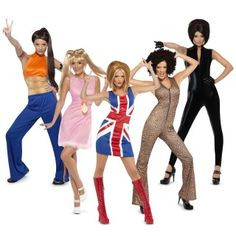 The Spice Girls Group Costumes