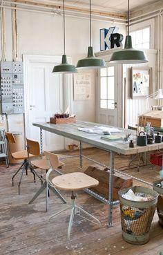 pendant lamps, office spaces, office interiors, art studios, studio space, pendant lights, industrial design, industrial workspace, industrial office