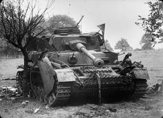A knocked-out Panzerkampfwagen IV, August 1944. France