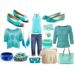 """""""Turquoise outfit"""" by esperanzandrea on Polyvore"""