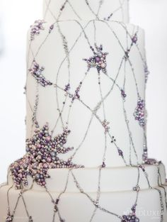 Haute couture wedding cake with lavender accents~
