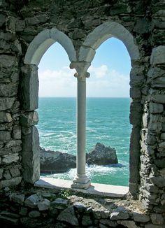 arch, seas, porto vener, portovener, windows, travel, place, italy, itali