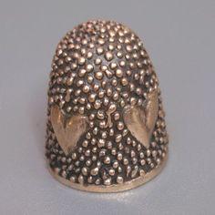 New bronze Thimble HEARTS