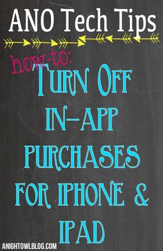 How to turn off In-App purchases on the iPhone & iPad