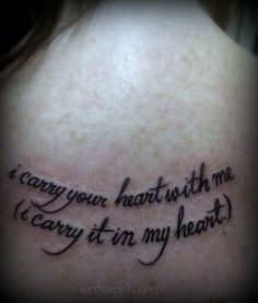 ee cummings quote tattoo | Flickr - Photo Sharing!